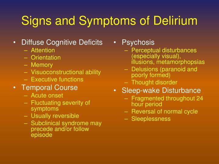 Diffuse Cognitive Deficits
