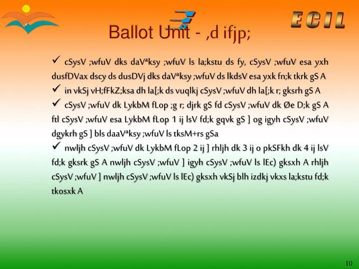 Ballot Unit -