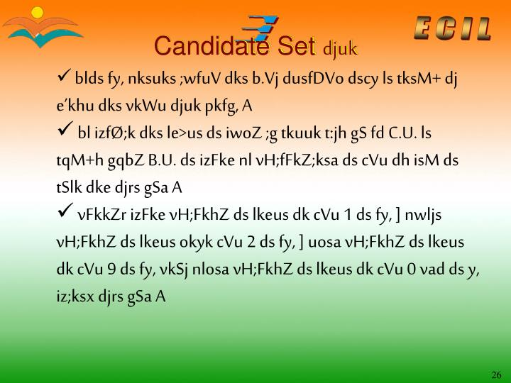 Candidate Set