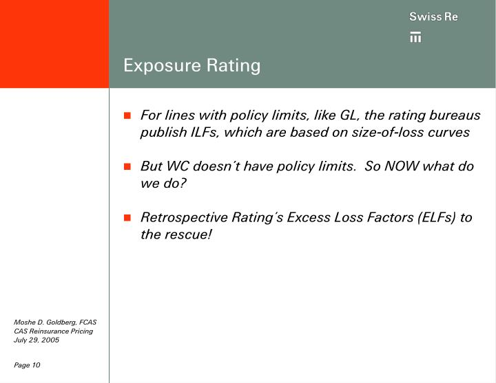 Exposure Rating