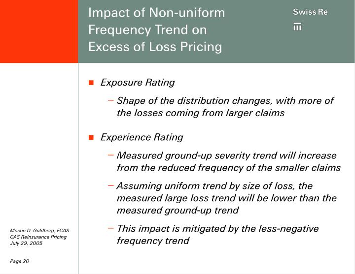 Impact of Non-uniform Frequency Trend on