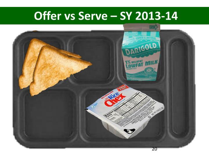 Offer vs Serve – SY 2013-14