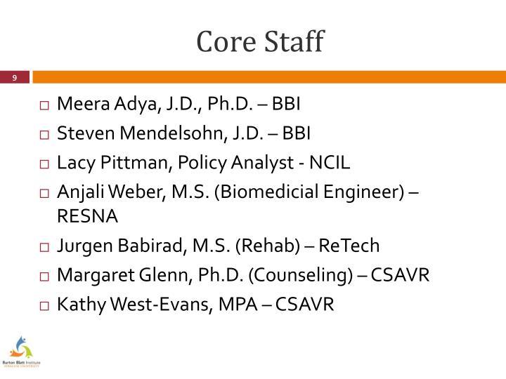 Core Staff
