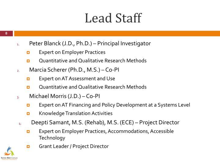 Lead Staff