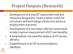 project outputs research1