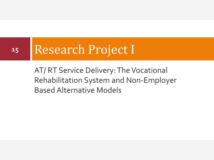 Research Project I