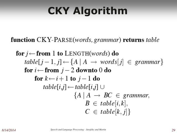CKY Algorithm