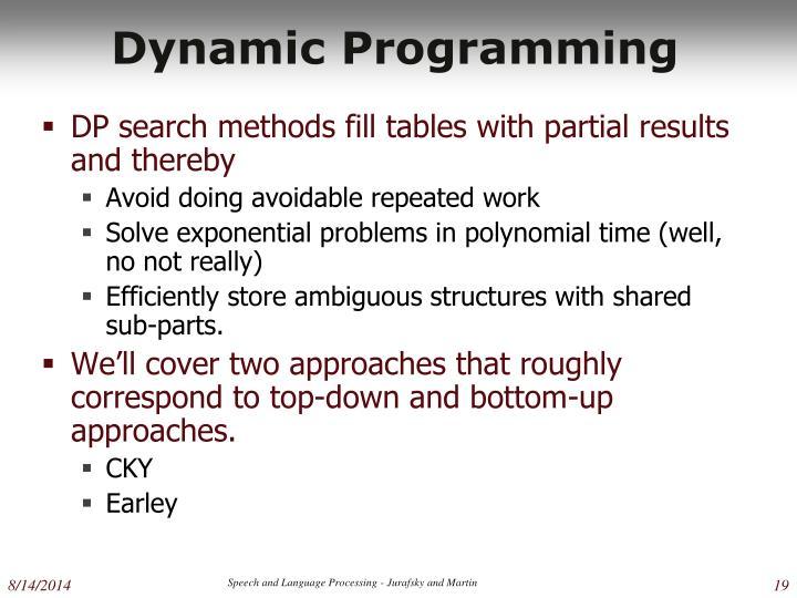 Dynamic Programming