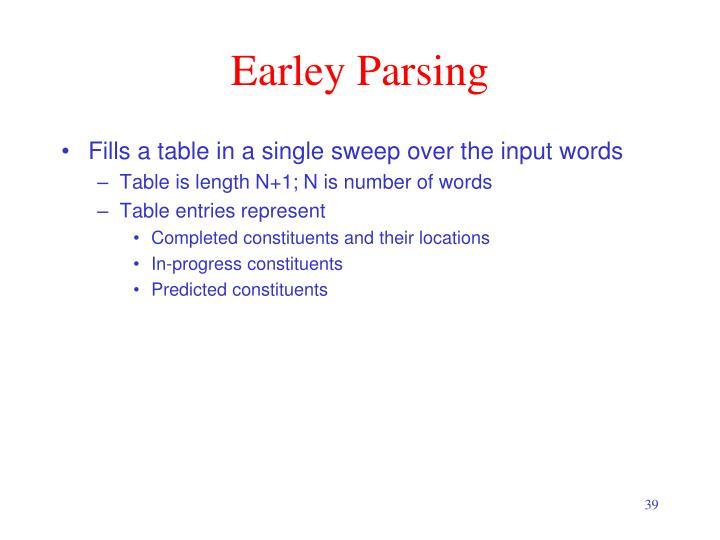 Earley Parsing