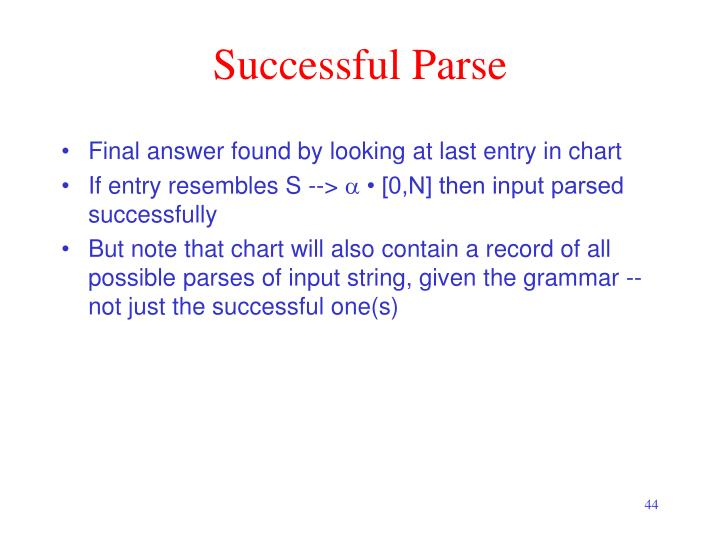 Successful Parse