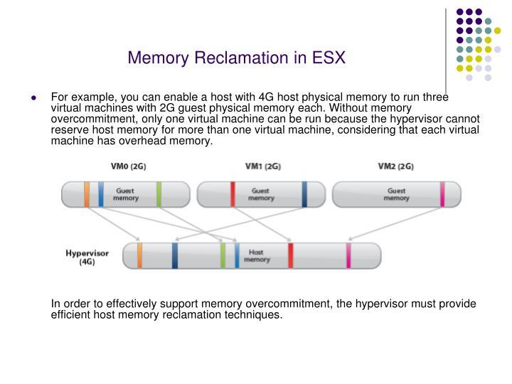 Memory Reclamation in ESX