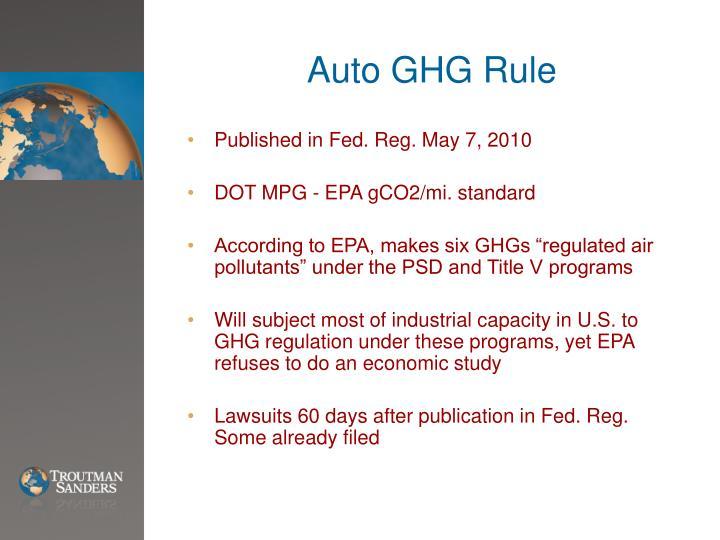 Auto GHG Rule