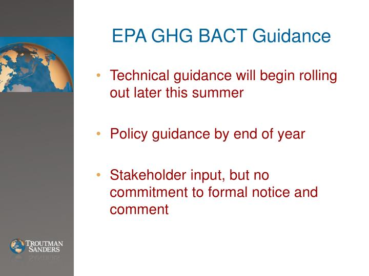 EPA GHG BACT Guidance