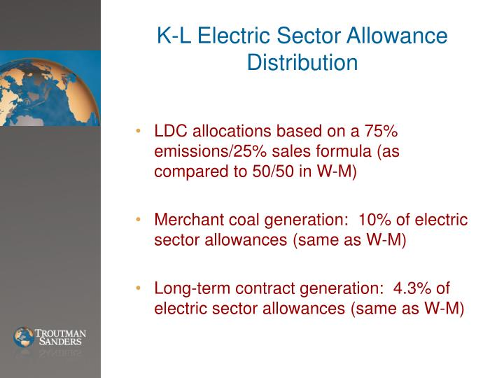 K-L Electric Sector Allowance Distribution
