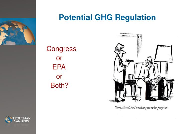 Potential ghg regulation