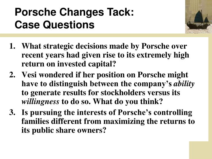 Porsche Changes Tack: