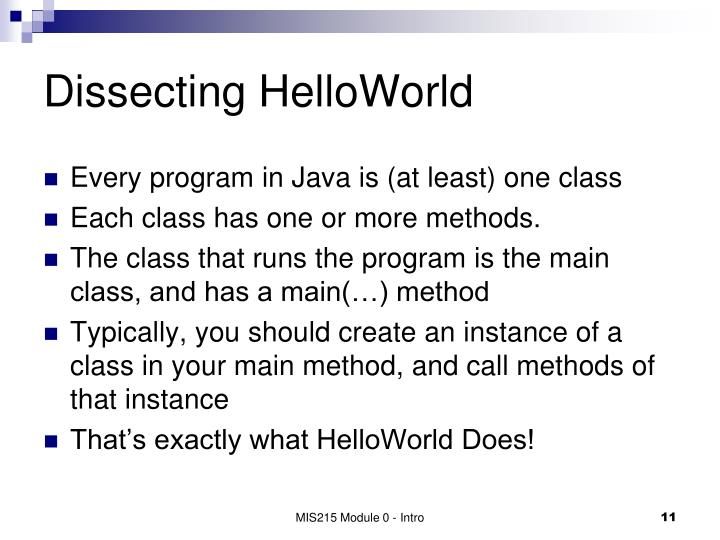 Dissecting HelloWorld