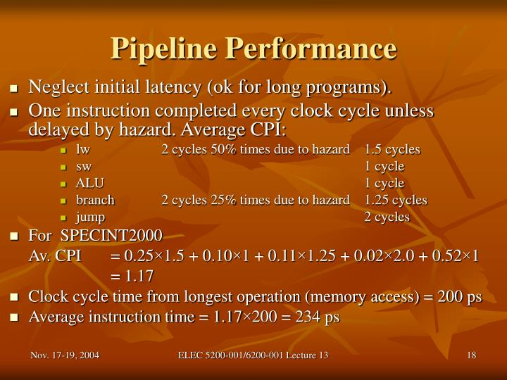 Pipeline Performance