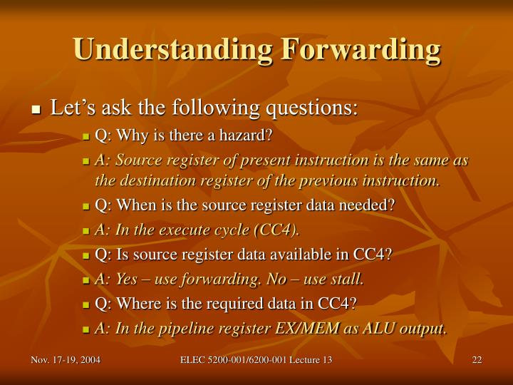 Understanding Forwarding
