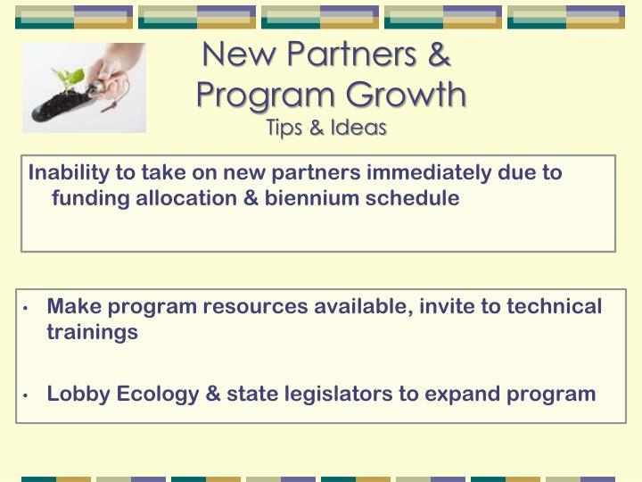 New Partners &