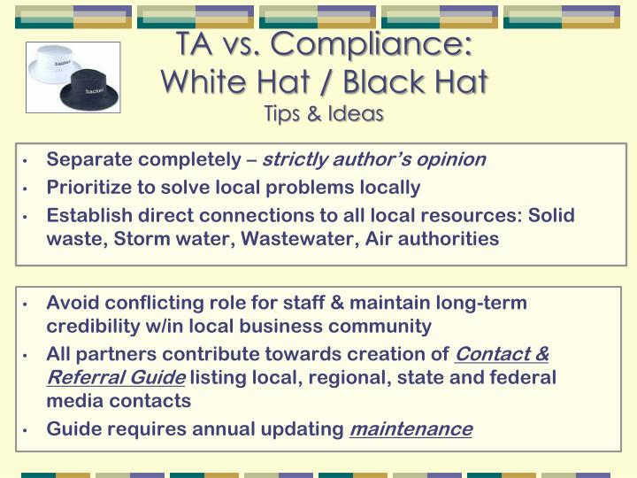 TA vs. Compliance: