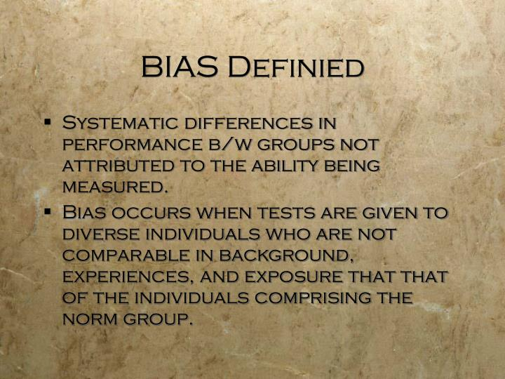 BIAS Definied
