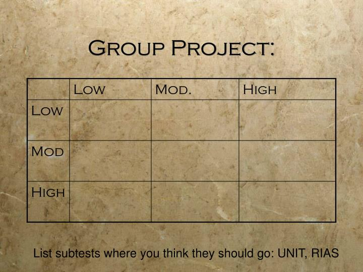 Group Project: