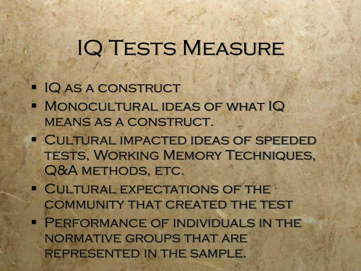 IQ Tests Measure