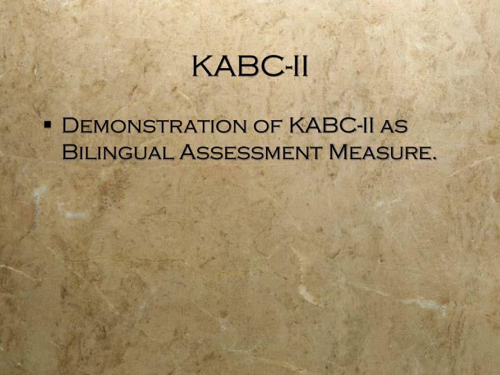 KABC-II