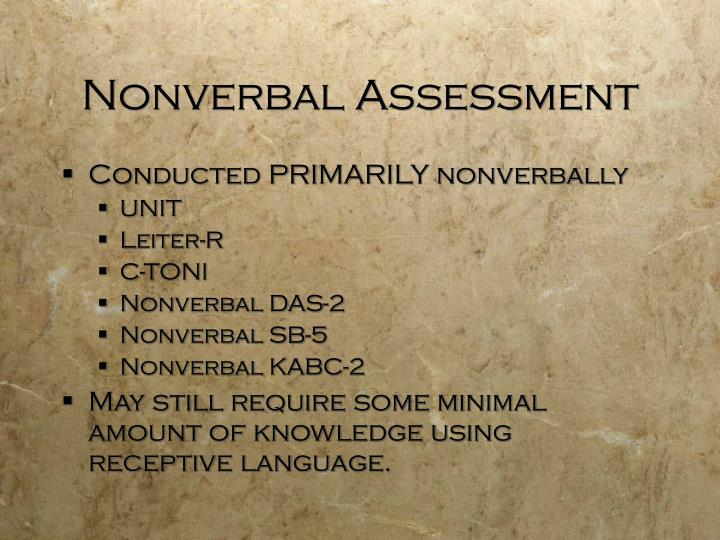 Nonverbal Assessment