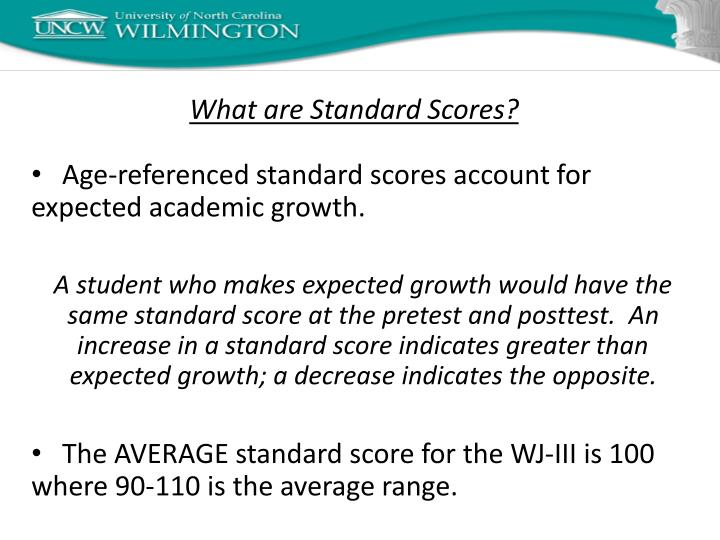 What are Standard Scores?