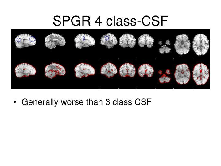 SPGR 4 class-CSF