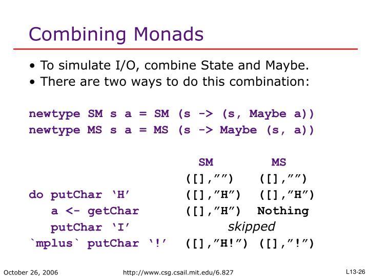 Combining Monads