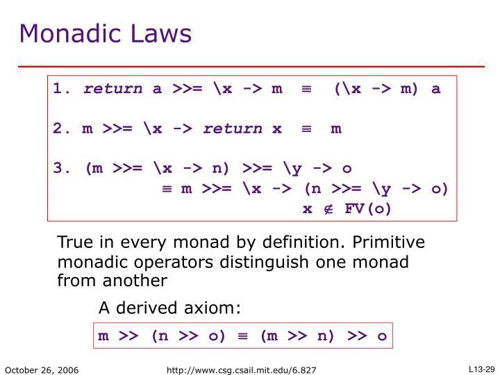 A derived axiom: