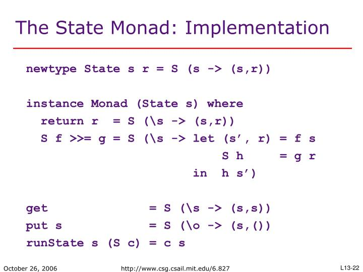 The State Monad: Implementation