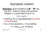 asymptotic notation