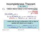 incompleteness theorem5