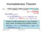 incompleteness theorem7