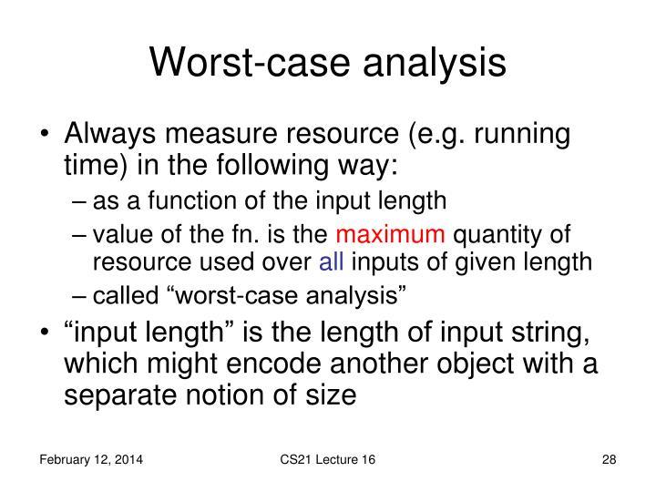 Worst-case analysis