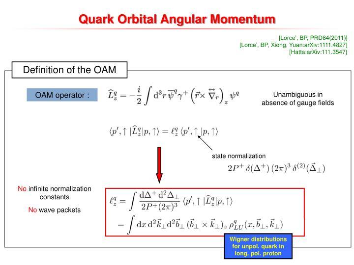 Quark Orbital Angular Momentum