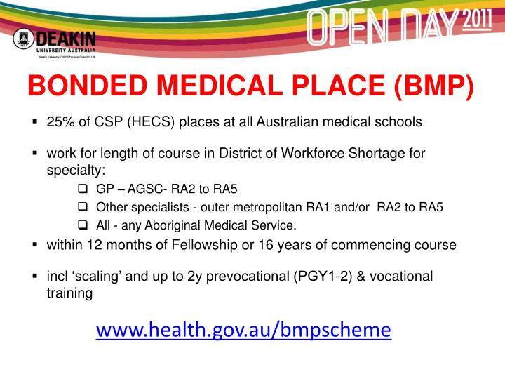 BONDED MEDICAL PLACE (BMP)