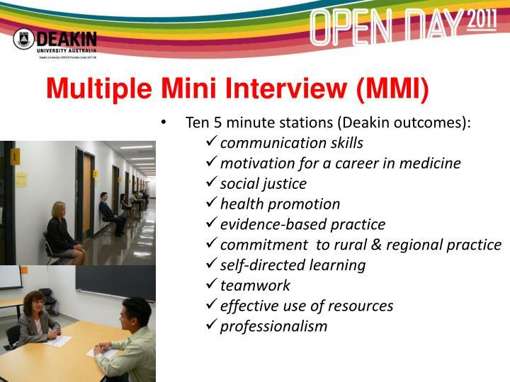 Multiple Mini Interview (MMI)
