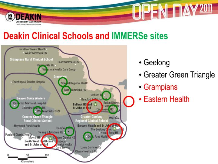 Deakin Clinical Schools and