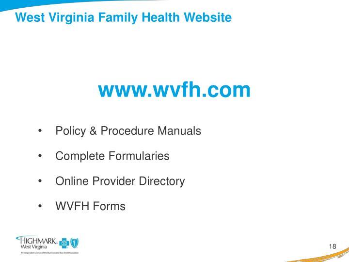 West Virginia Family Health Website