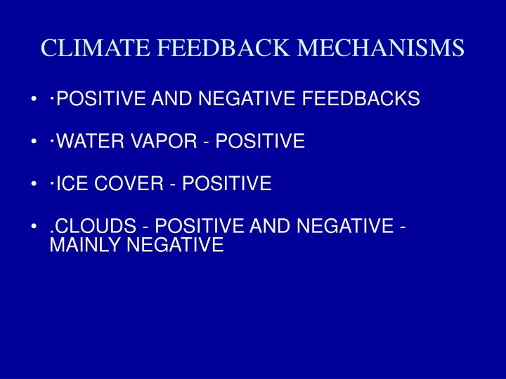 CLIMATE FEEDBACK MECHANISMS