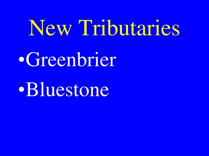 New Tributaries