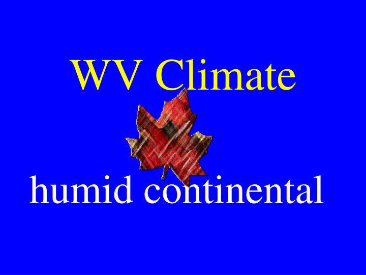 WV Climate