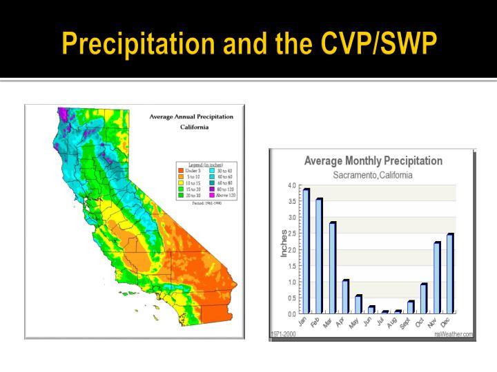 Precipitation and the CVP/SWP