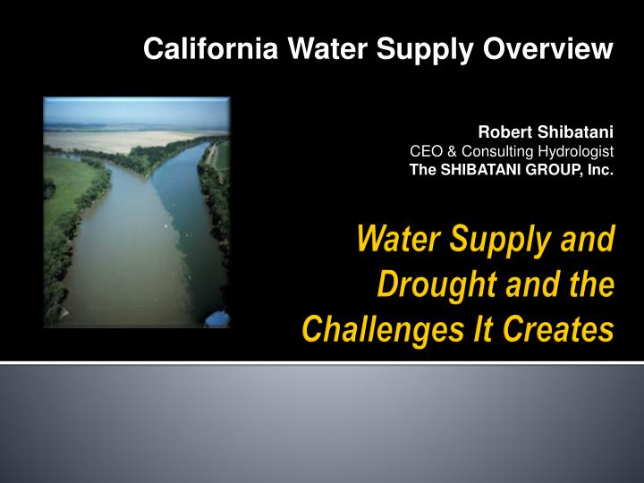 California Water Supply Overview