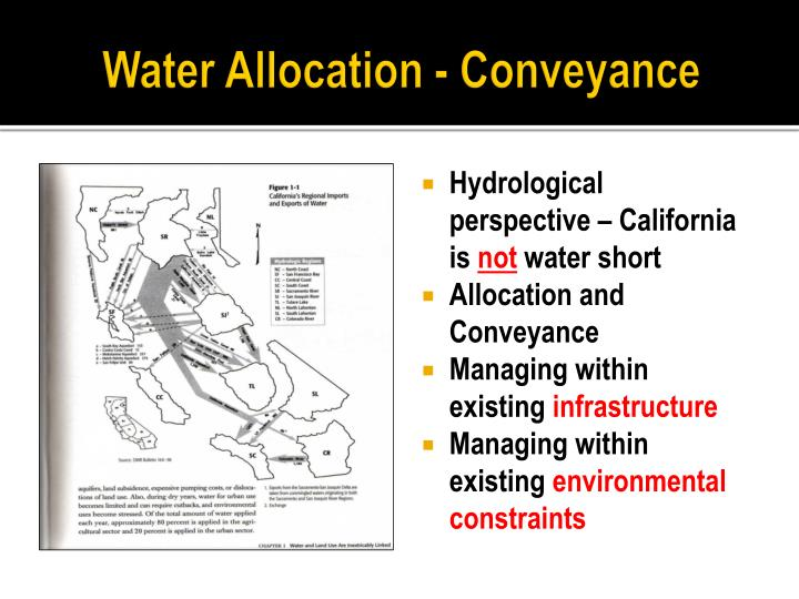 Water Allocation - Conveyance